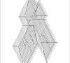 CAD-Zeichnung eines Walmdach mit Balkenlage