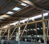 Stallbau in freitragender Leimbinder-Konstruktion